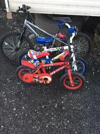 1 adult bike and 2 kids bike for sale