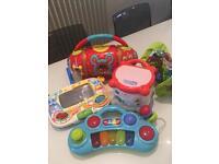 Selection of baby toys Vtech Leapfrog ELC