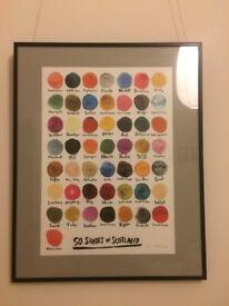 '50 Shades of Scotland' Art Print Framed