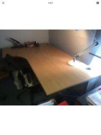 Ergonomic birch 6 ft desk