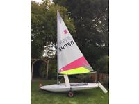 Topper Sailing Dinghy with Launching Trolley