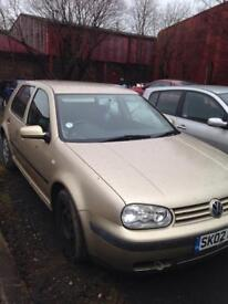 Volkswagen Golf 1.6 02 plate breaking for spares