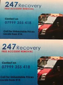 24/7 Recoveries Free Accident Removal auction collection m606/m62/m1/m6 Unbeatable prices call today