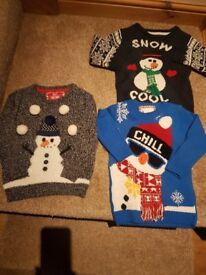 3 christmas jumpers