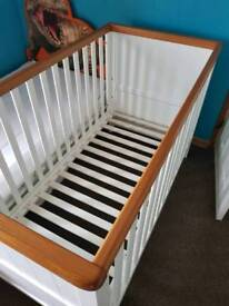 Mothercare summer oak cot bed
