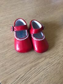 Red Spanish baby shoes