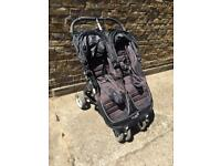 Baby Jogger City Mini Stroller - Double Buggy Pushchair Black RRP £449.99