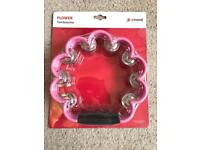 Chord flower tambourine in pink