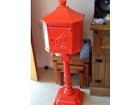 old cast iron post box
