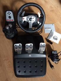 Logitech G25 Racing Wheel, Pedals and Gearstick