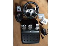 Logitech G25 Racing Wheel, Pedals and Gearstick
