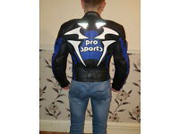 Motorcycle Jacket Leather PRO SPORTS GERICKE. SIZE : M.