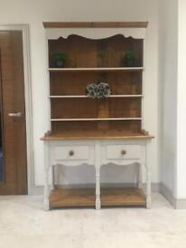 Stunning kitchen Dresser solid wood pine oak grey living dining unit