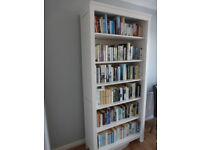 Hemnes White Stain Bookcase, 90x197cm, 6 shelves.