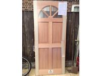 Hardwood double glazed front door