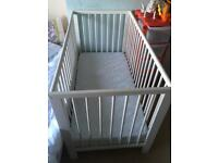 Ikea Gulliver cot bed, lovely condition with as new mattress
