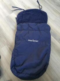 Maclaren Universal Footmuff - blue