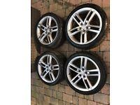 Audi A3 S-Line. - Original 17inch alloys, 215/40R17 may fit SEAT,VW,SKODA