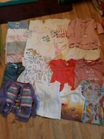 Bundle of girls up to 3 month clothes