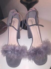 Heels grey size 7