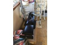 Vital fitness bench and weights for sale,