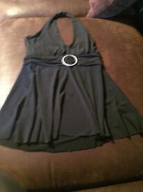 Black halterneck top new look size 8