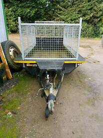 Ifor williams mini digger trailer with cage sides