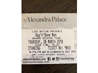 2 x Rag 'n' Bone Man standing tickets - Alexandra Palace - 8/3/18