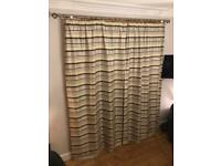 Pair of Extra Long Curtains for High Ceilings - 268cm drop x 148cm width each curtain
