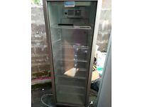 1 single glass fronted fridges, only disconnected today all in good working order