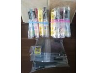 2 x Full set of ink cartridges + 2 black free ( All XL ) Epson Expression Printers