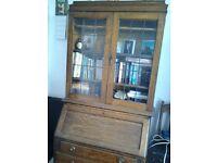 Oak bookcase bureau from around 1920's.