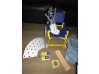 Build a bear factory wardrobe, wheelchair, crutches, cast and lots off clothes