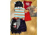 Boys clothes bundle includes Halloween costume 8-9 years