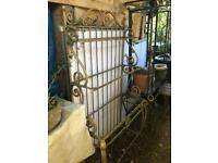 Large steel garden flower stand gold sort of colour I've