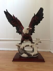 Stunning Large Resin Eagle on Plinth Ornament - Price ONO