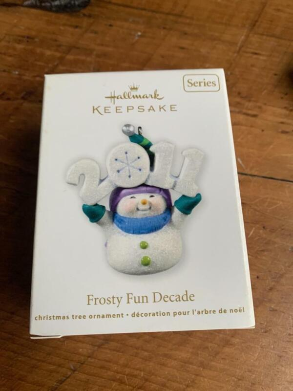 Hallmark Keepsake Ornament 2011 Frosty Fun Decade Snowman Snowmen Year #2 2nd