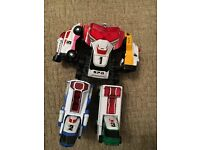 Power ranger toys with accessories