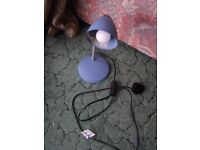 Reading Lamp Pale Blue Ready to Use
