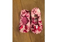 Girls pink pony ballerina slippers by Tu