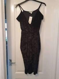 Miss Selfridge black velvet dress