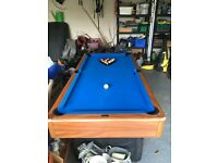 POOL TABLE with PING PONG TABLE 2nd hand for £200 retail price £750