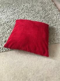 4 x red cushions stunning material