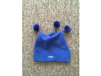 Barts pumpkin fleece hat (blue) - for a 4-year-old