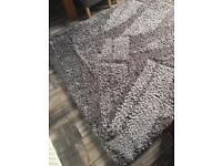 Silver / Grey Shaggy Rug
