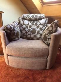 Reclining Swivel Chair by Fama.