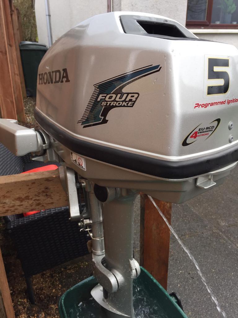 Honda 5hp four stroke outboard in helensburgh argyll for Honda four stroke outboard motors