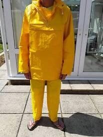 Wet weather gear.