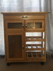Kitchen trolley side table
