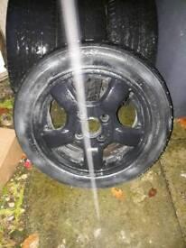 Alloyed wheel